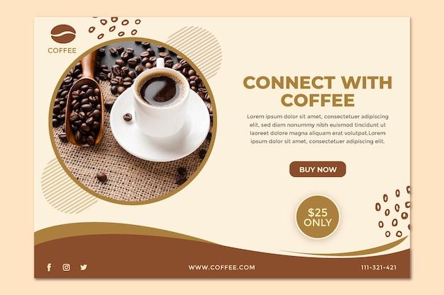 Verbinden sie sich mit der kaffee-banner-vorlage Kostenlosen Vektoren