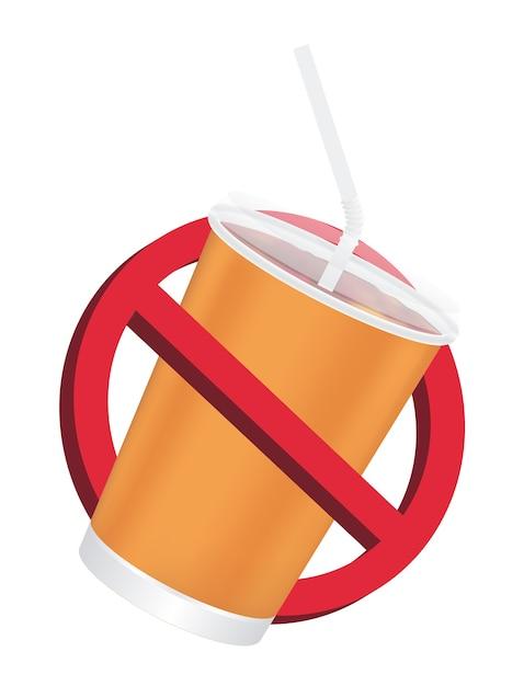 Verbot kein trinkendes zeichen auf einem weißen hintergrund Premium Vektoren