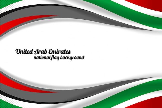 Vereinigte arabische emirate flagge konzept hintergrund Premium Vektoren