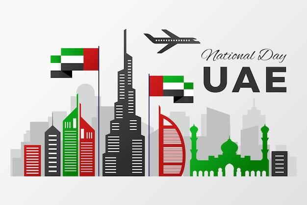 Vereinigte arabische emirate und nationalfeiertag Premium Vektoren