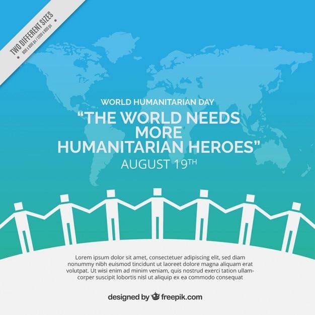 Vereinigte leute humanitären hintergrund Premium Vektoren