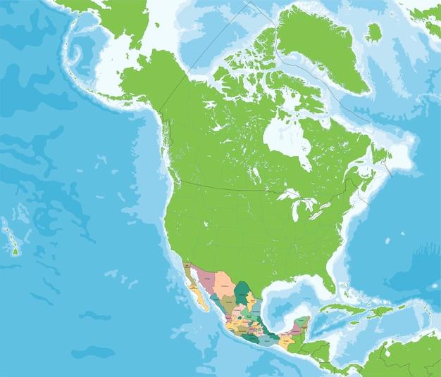 Mexiko Staaten Karte.Vereinigte Mexikanische Staaten Karte Download Der Premium