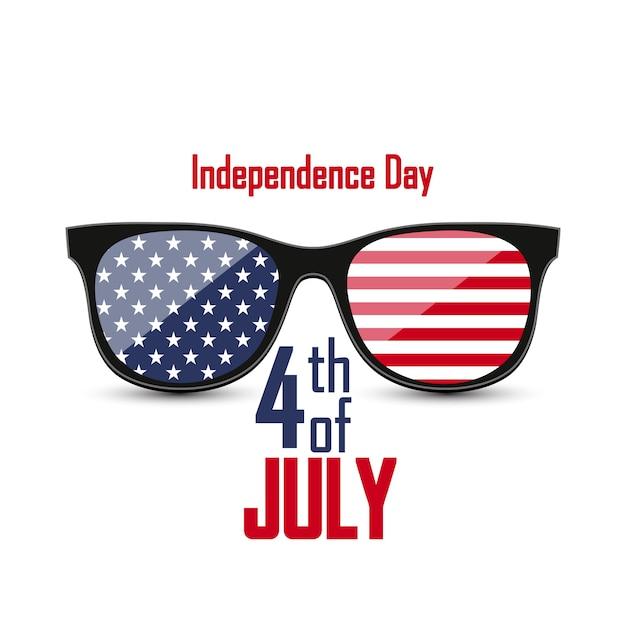 Vereinigte staaten von amerika. 4. juli. Premium Vektoren