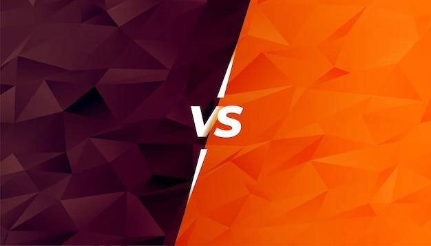 Vergleich oder kampf gegen bildschirm im low-poly-stil Kostenlosen Vektoren