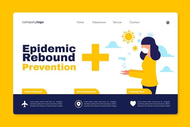 Verhindern sie den rückprall von epidemien - zielseite Kostenlosen Vektoren