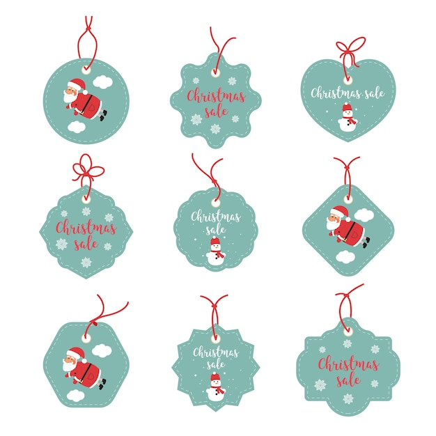 Verkauf Aufkleber Grafiken. Frohe Weihnachten glücklich Etiketten ...
