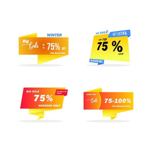 Verkauf banner template design Premium Vektoren