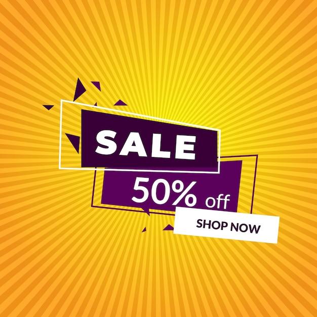 Verkauf banner vorlage Premium Vektoren