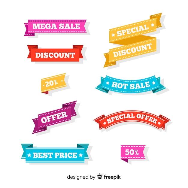 Verkauf banner Kostenlosen Vektoren
