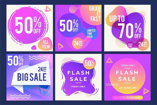 Verkauf designs vorlage Premium Vektoren