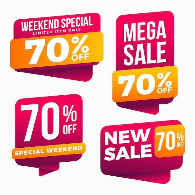 Verkauf etiketten tag set collection Premium Vektoren
