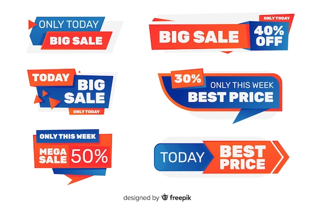 Verkauf etikettenkollektion Kostenlosen Vektoren