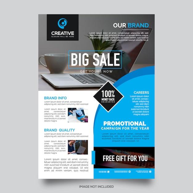 Verkauf flyer vorlage Premium Vektoren