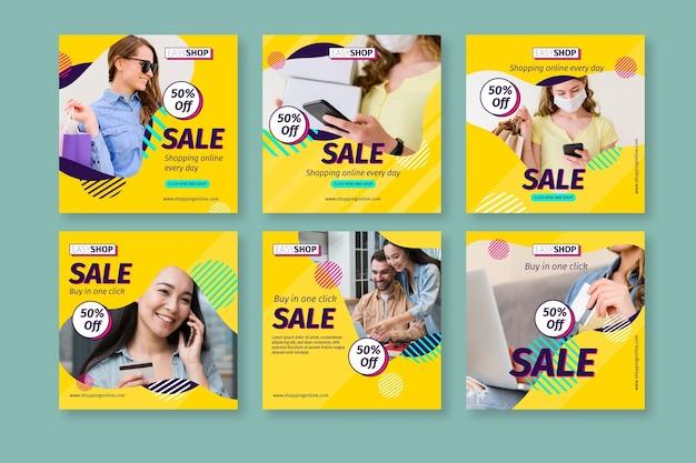 Verkauf instagram beiträge mit foto Kostenlosen Vektoren