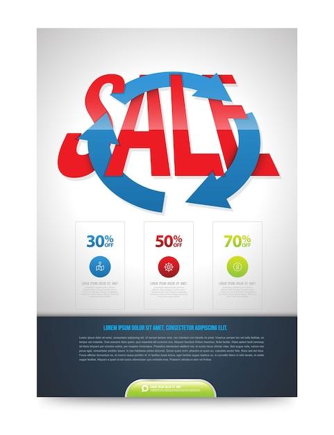 Verkauf-poster-design-vorlage Premium Vektoren