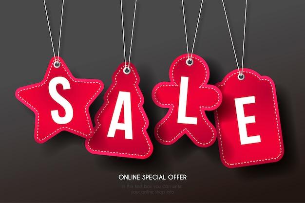 Verkauf tag collection mit lustigen formen Kostenlosen Vektoren