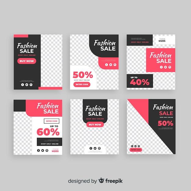 Verkauf Web-Banner für Social Media Kostenlose Vektoren