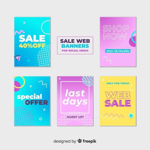 Verkauf web-banner-sammlung Kostenlosen Vektoren