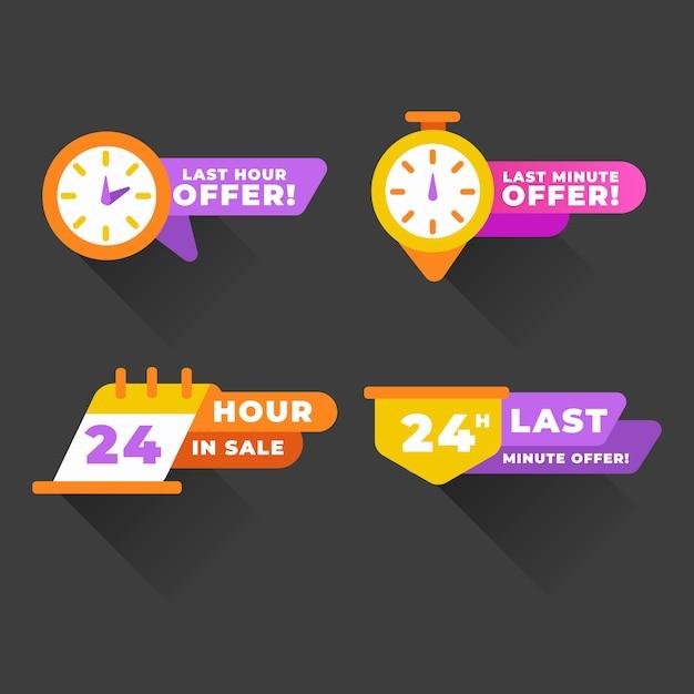 Verkaufs-countdown-banner-auflistung Kostenlosen Vektoren