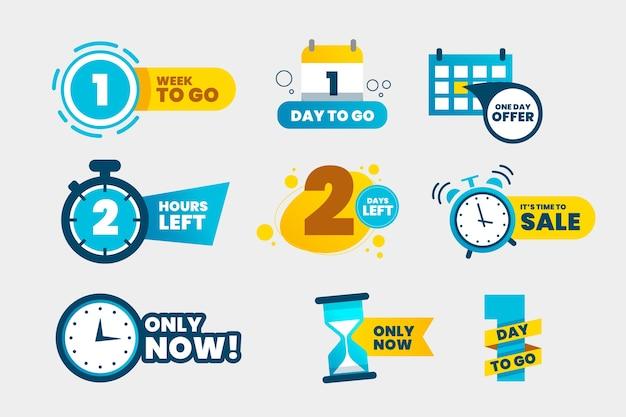 Verkaufs-countdown-banner-auflistung Premium Vektoren
