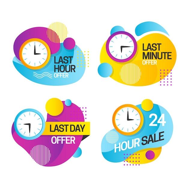 Verkaufs-countdown-banner-pack Kostenlosen Vektoren