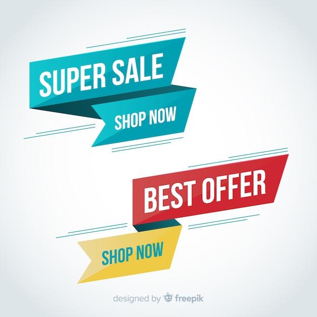 Verkaufsbanner Kostenlosen Vektoren