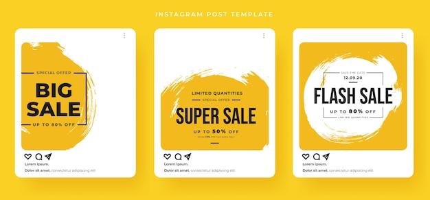 Verkaufsbannerset mit kartenpoststil Premium Vektoren