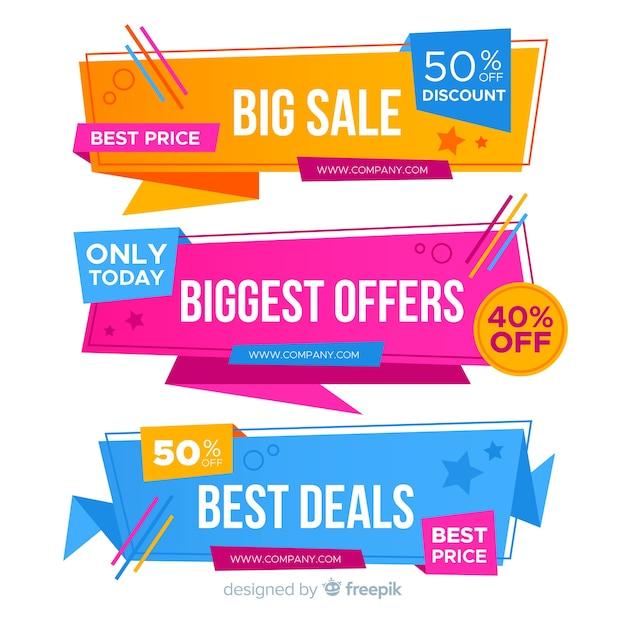 Verkaufsfahnen Kostenlosen Vektoren