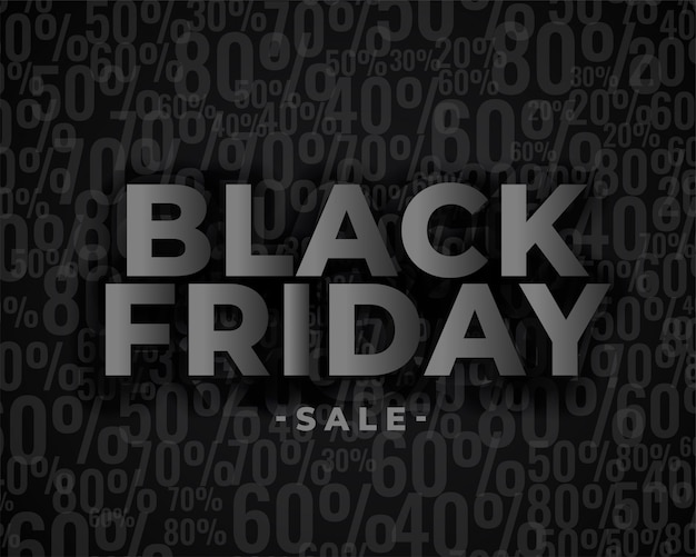 Verkaufsfahnendesign für schwarzen freitag Kostenlosen Vektoren