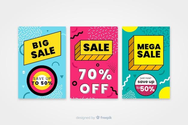 Verkaufsfahnenschablone, mega- abkommenrabattangebot Kostenlosen Vektoren