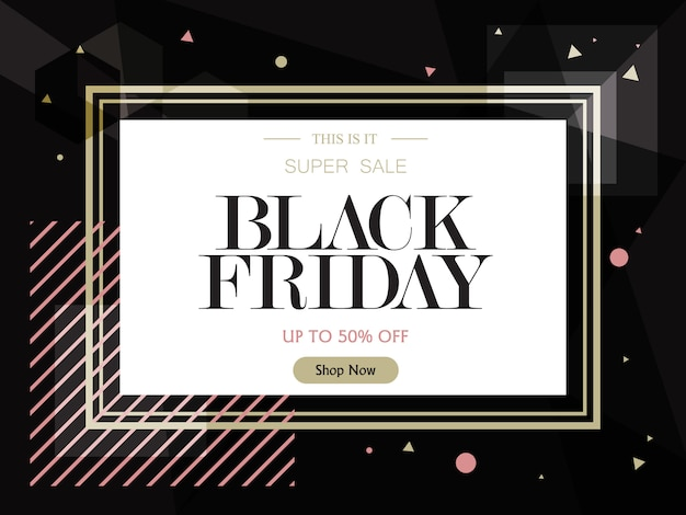 Verkaufsfahnenschablonen-designhintergrund. black friday-verkauf Premium Vektoren