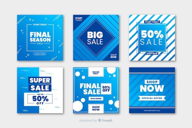 Verkaufsförderung banner für social media Premium Vektoren
