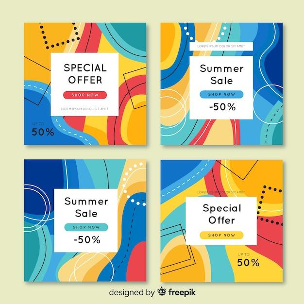Verkaufsförderung banner für social media Kostenlosen Vektoren