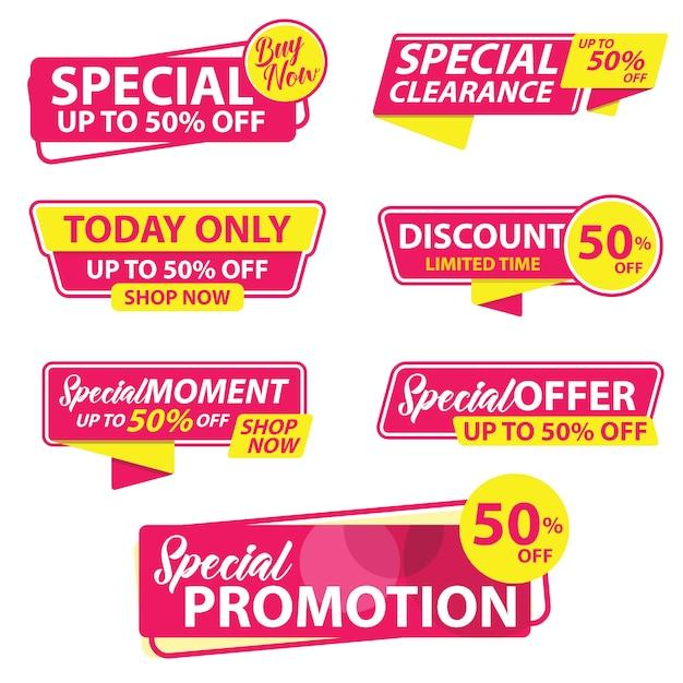 Verkaufsförderung banner vorlage Premium Vektoren