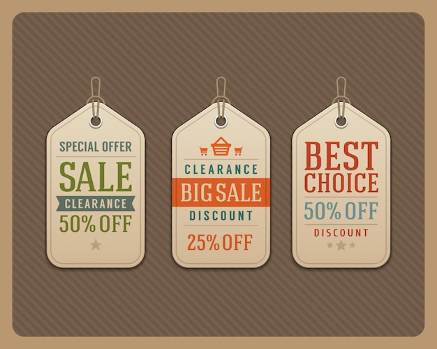 Verkaufstags beschriftet retro- typografische gestaltungselement-vektorillustration. Premium Vektoren