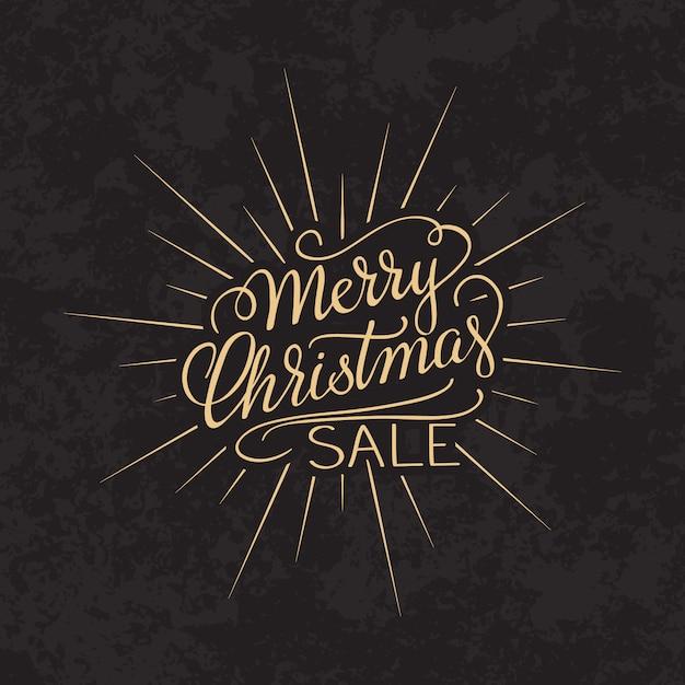 Verkaufstext der frohen weihnachten kalligraphische briefgestaltung kartenschablone. Kostenlosen Vektoren
