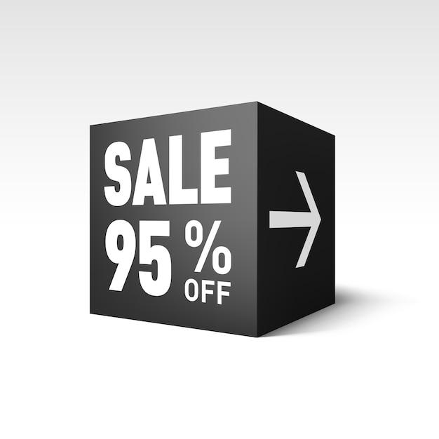 Verkaufswürfel Premium Vektoren
