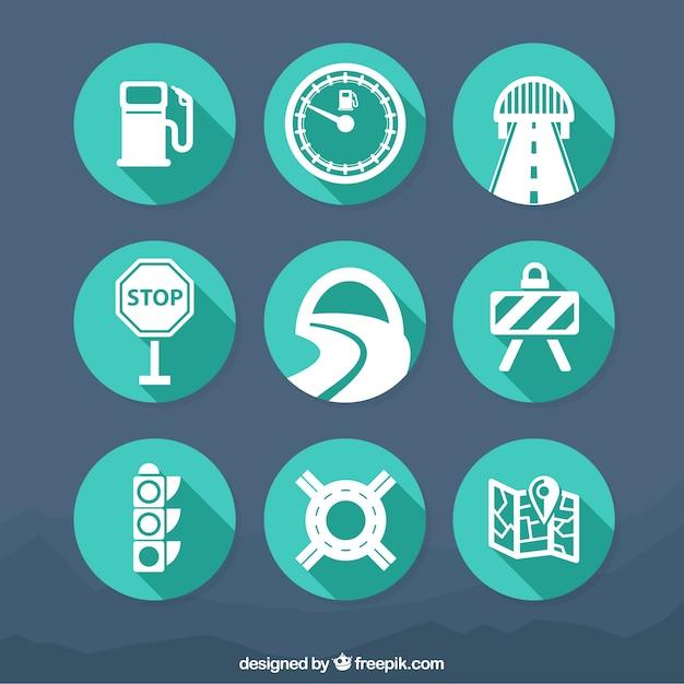 Verkehrs icons Kostenlosen Vektoren