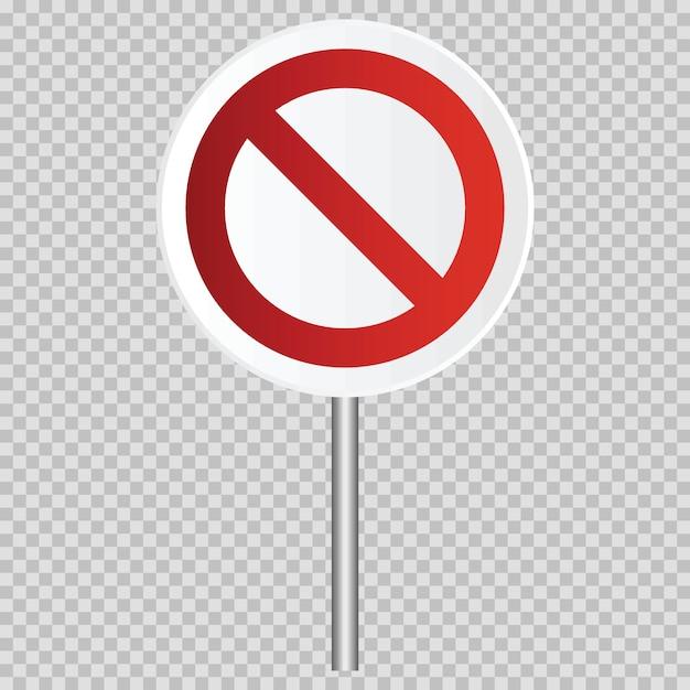 Verkehrsbeschränktes realistisches verkehrsschild des vektors lokalisiert. illustration des verkehrsstraßen- und -stoppstadtsymbols, warnend Premium Vektoren