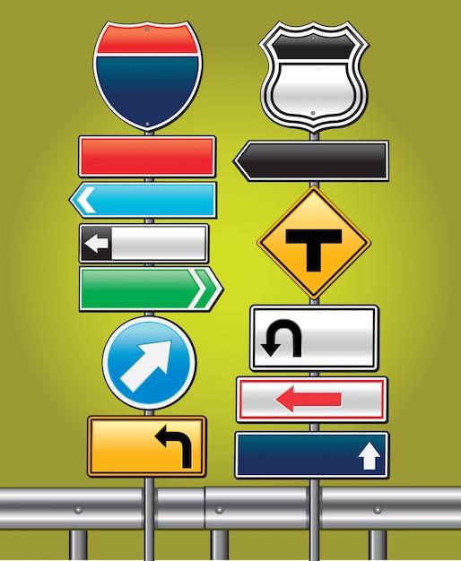 Verkehrsschilder bord. vektor-illustration Premium Vektoren