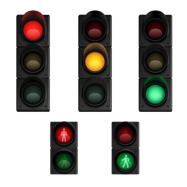 Verkehrsstoppsignale signalisieren Kostenlosen Vektoren