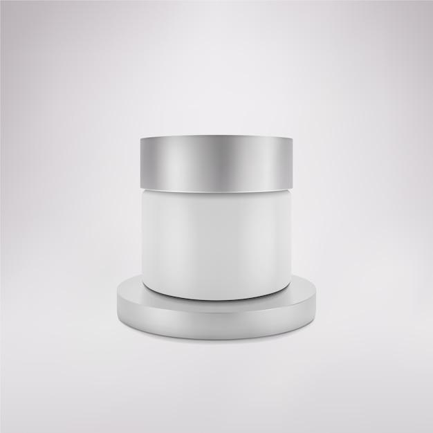 Verpackung für kosmetik im studio. Premium Vektoren