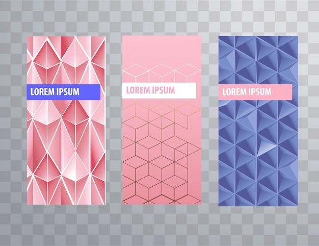 Verpackung oder broschüre umfassen weibliche vorlagen Premium Vektoren