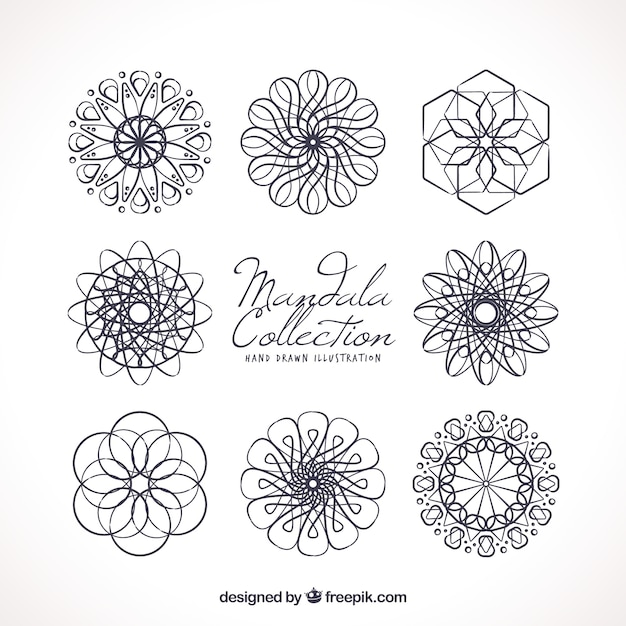 Verschiedene abstrakte Mandalas | Download der kostenlosen Vektor