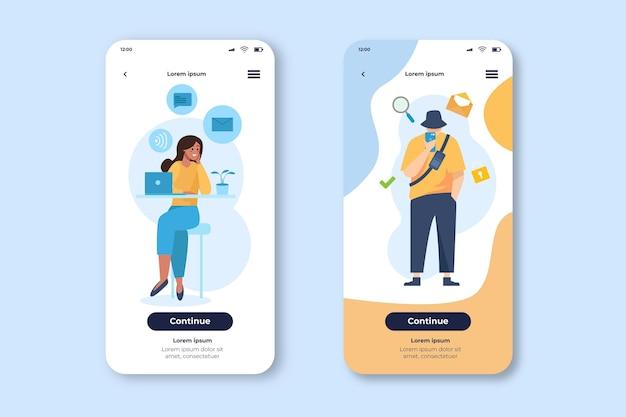 Verschiedene apps für handy-vorlage Kostenlosen Vektoren