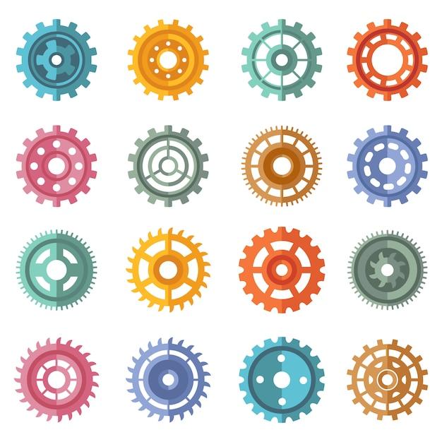 Verschiedene artfarbgänge eingestellt Premium Vektoren