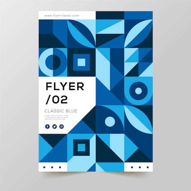 Verschiedene geometrische abstrakte formen flyer vorlage Kostenlosen Vektoren
