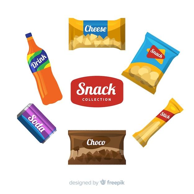 Verschiedene snack-set Kostenlosen Vektoren