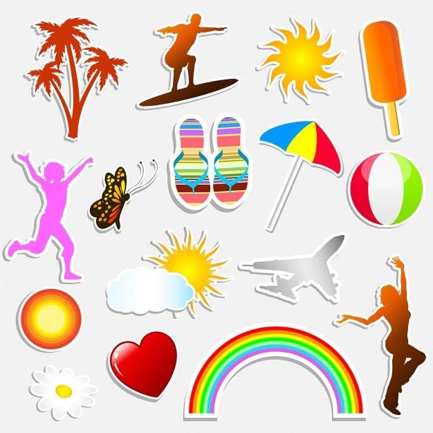Verschiedene sommer themen aufkleber download der for Pool design aufkleber