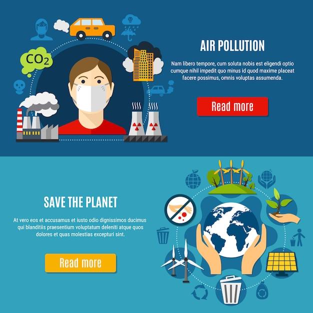 Verschmutzungs-fahnen eingestellt Kostenlosen Vektoren